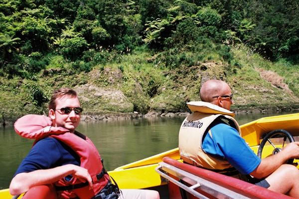 Jet boat to start of canoeing