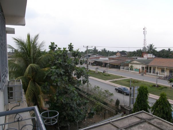 View from our hotel room in Battambang, Cambodia.