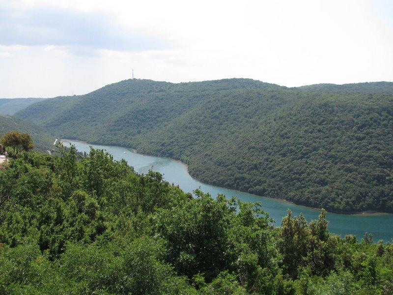 Inland Croatia is full of trees, farmland and lakes.