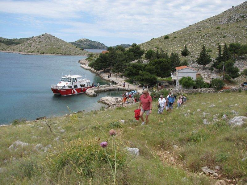 """Big Red"" took us around the Kornati national park...."