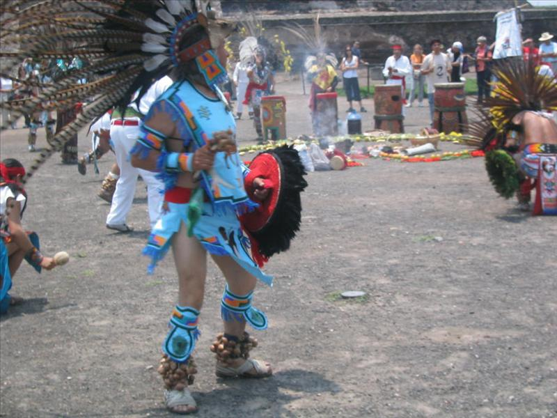 Mayan traditional dancer