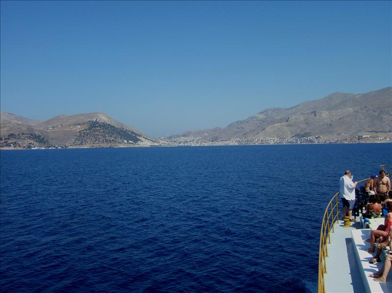 Three Islands Cruise - Approaching Kalymnos
