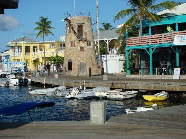 Waterside dining in Christiansted