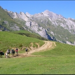 There are various ways up and down the Haute Pyrenees - by mule ....