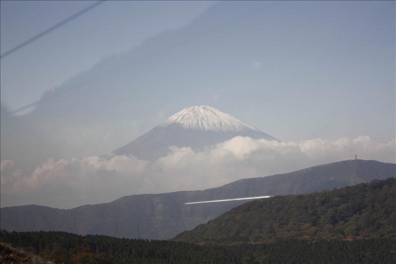 今天天氣不錯  看到富士山
