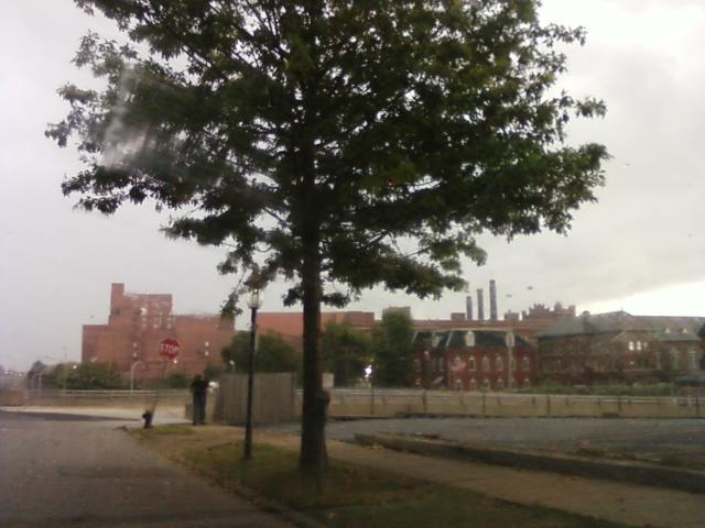 a view of nearby Anheuser Busch Brewery