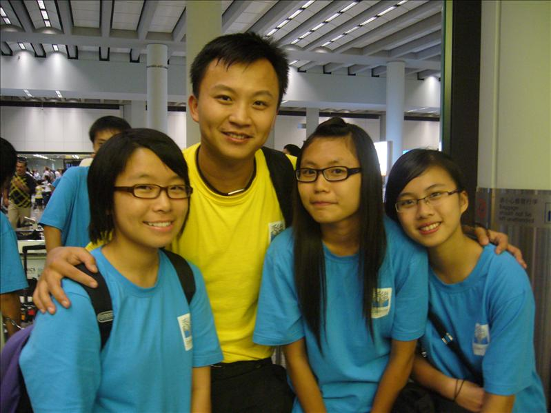Jessica Cherry Tiffany 與香港導師 Eric @ 香港機場
