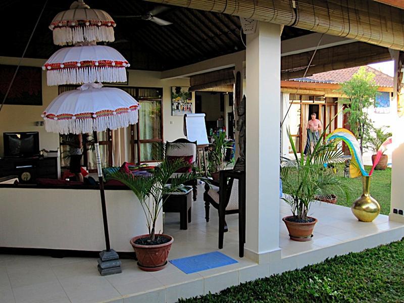 The villa I'm staying at.