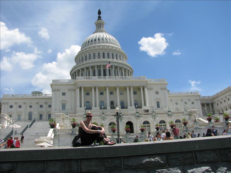 Ilse bij de Capitol (waar de senaat en huis van afgevaardigden huist)