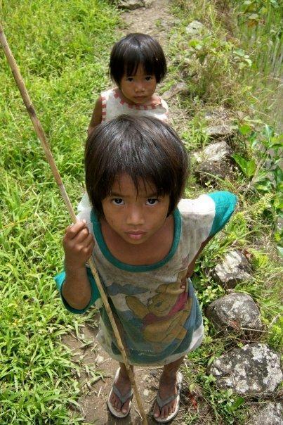 CHILDREN, RICE TERRACES, BATAD