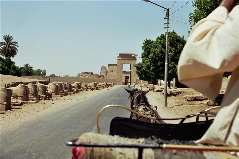 on the way to Karnak Temple