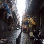 The famous pizza street in naples, where mahrgerita pizza was born!