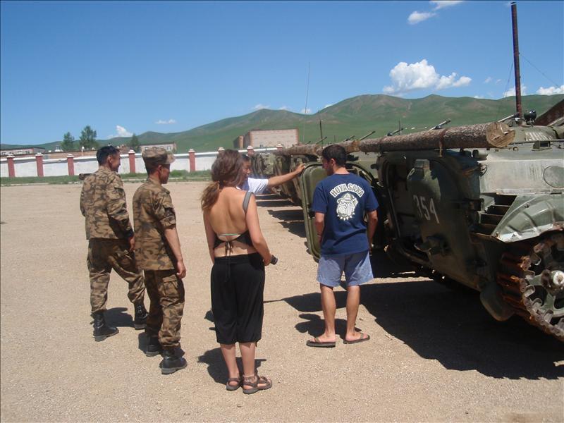 Examining the small tank