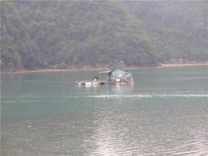 After the trek, on the boat heading back towards Cat Ba town
