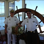 the Captain, in white, of our boat ride