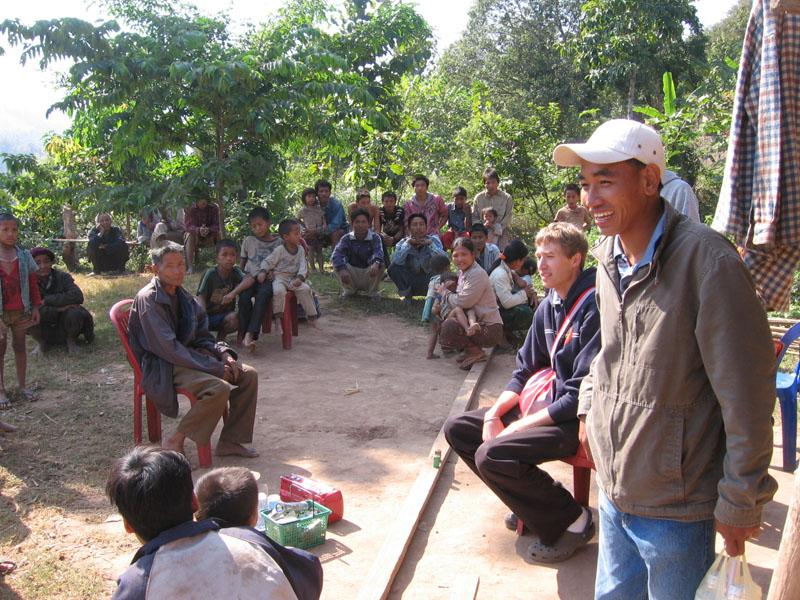 Most of the village gathered around as soon as we arrived. This is Samsok, a 25-yr-old guy with the vision and passion to travel along the river and minister to the people who need it most.