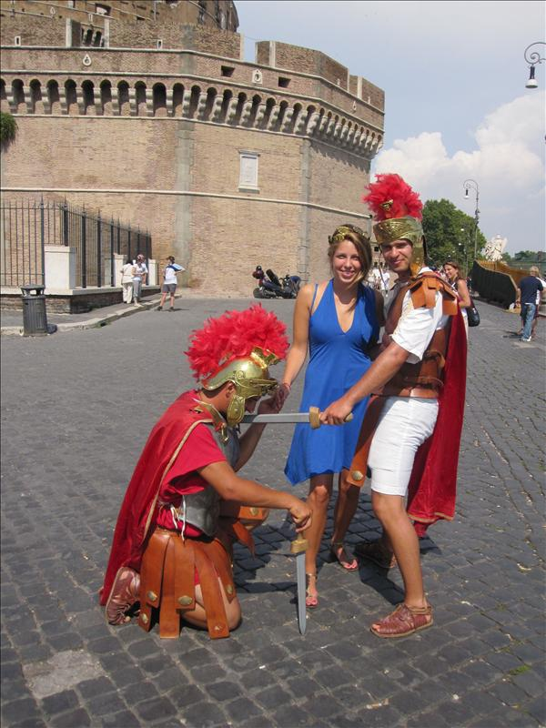 Ciao Bella, with the Roman soldiers
