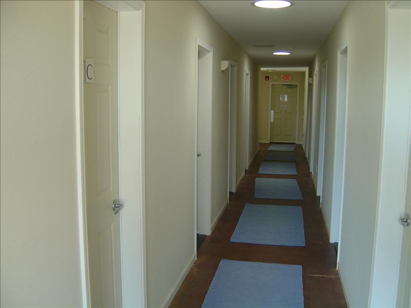 hall inside the dorm.