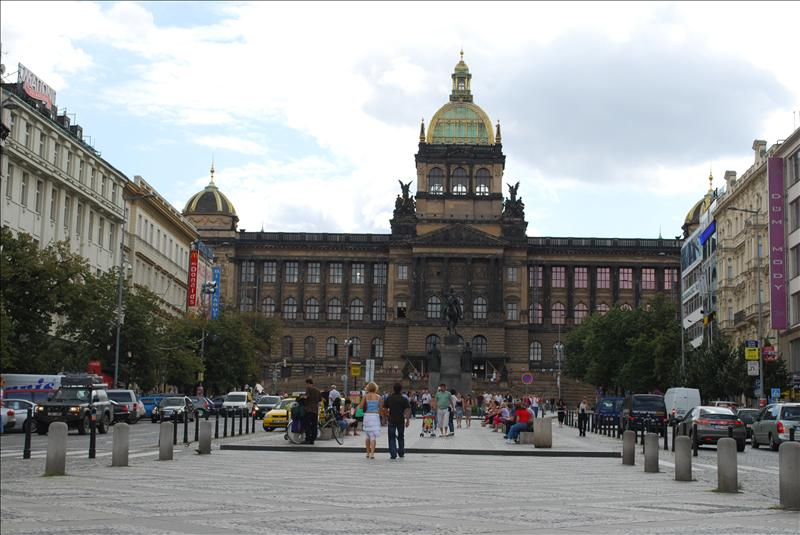 Wenceslas Square and National Museum