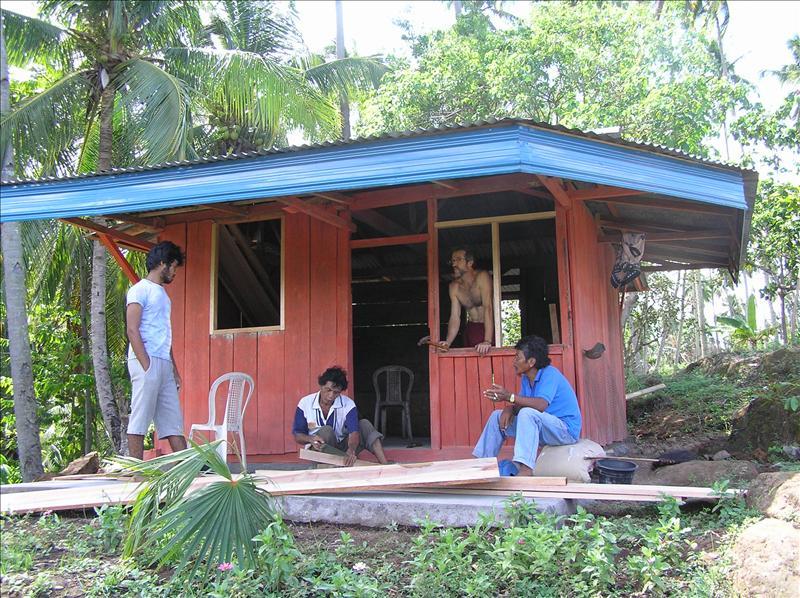 Bulding a hut