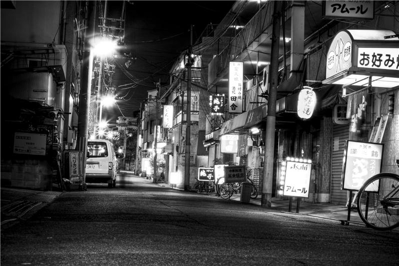 Night Street in Kobe