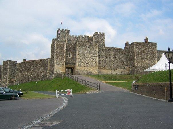 Walking up to Dover Castle.