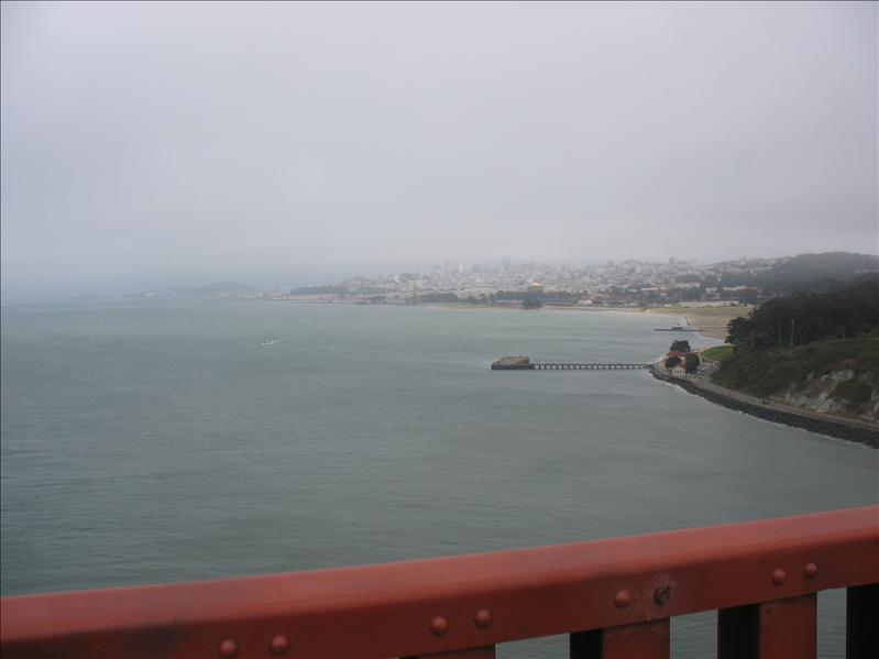 Our view from the Golden Gate Bridge