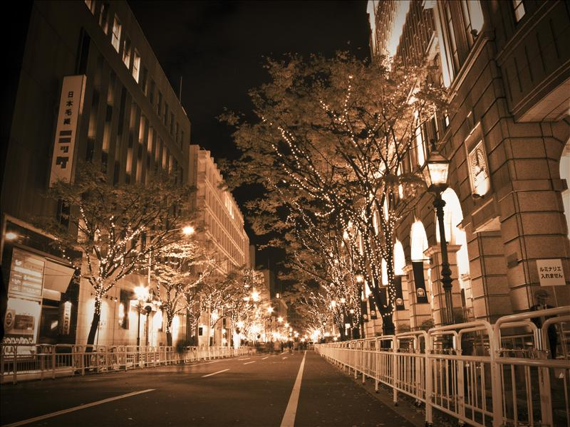 Street in the night!