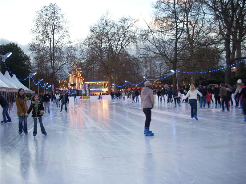Ice skating in Hyde Park