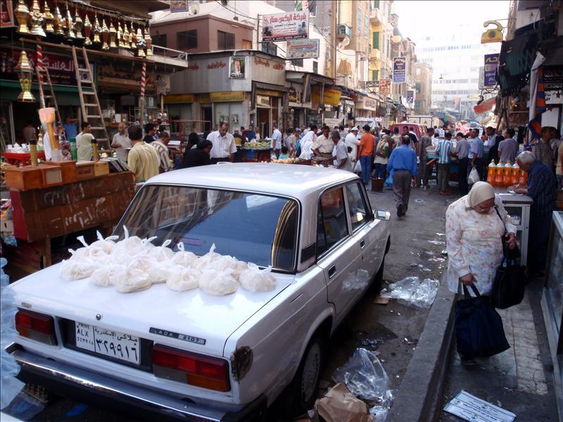 De lokale markt voor Egyptenaren