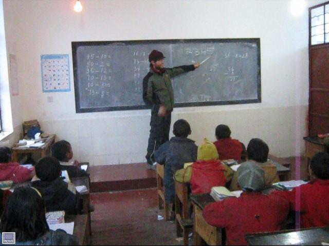 teaching some english in the school on the way