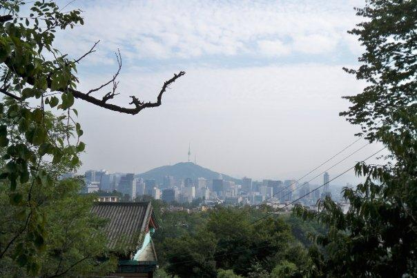 """09/30 - mount inwangsan -   inwangsan used to be known as """"white tiger mountain"""" during the joseon period.  but they are all extinct now in the area :("""