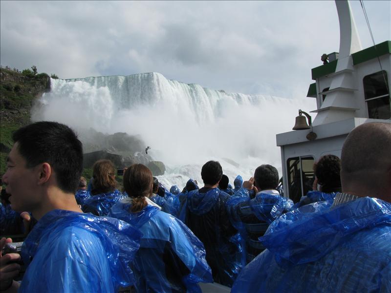 vlak onder de watervallen