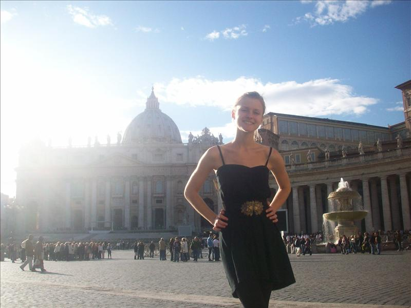 Jess in the vatican city!