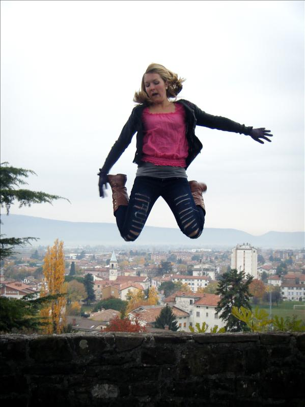 just jumping for fun