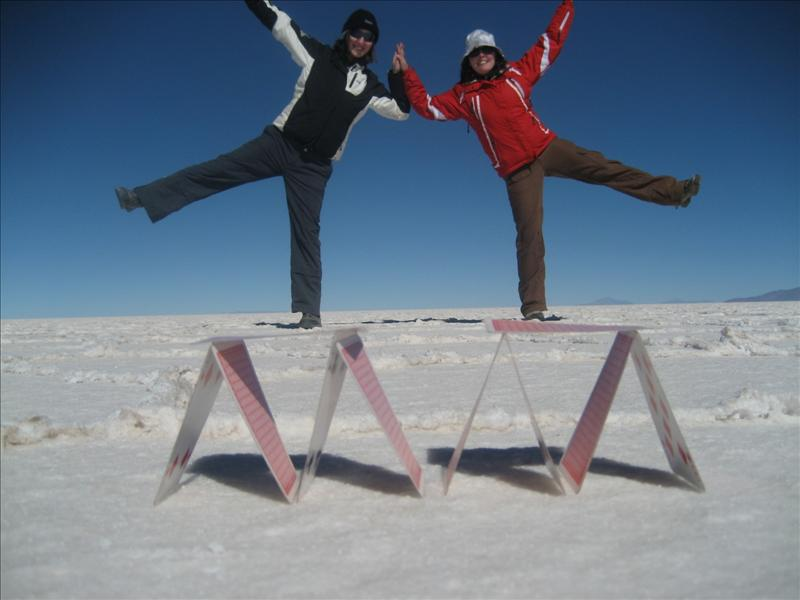 Larking around on the Salt Flats.jpg