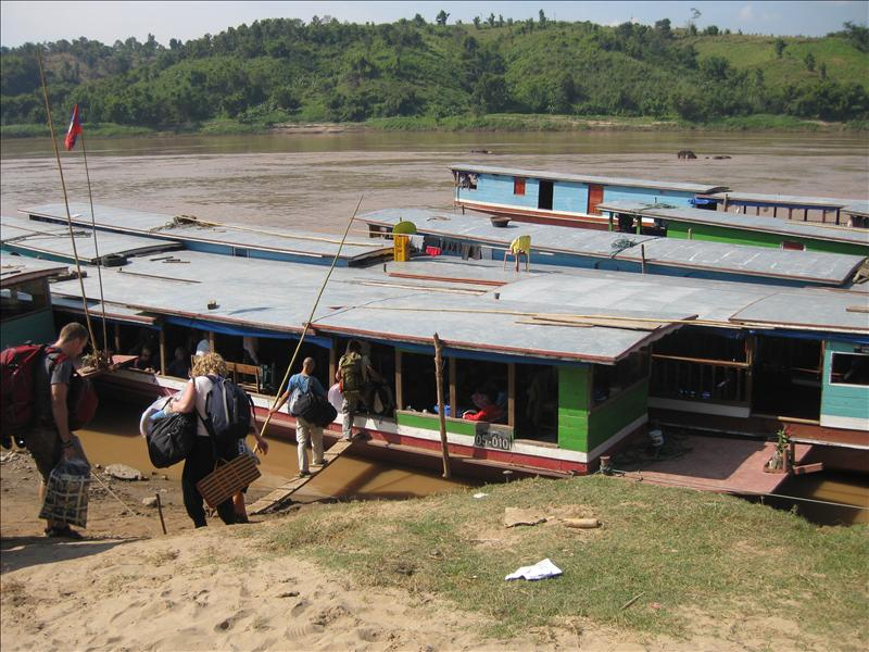 Getting on the slow boat down the Mekong to Luang Prabang