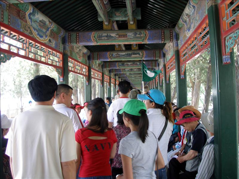 The Long Corridor in the Summer Palace. It was first built in 1750, rebuilt in 1886.