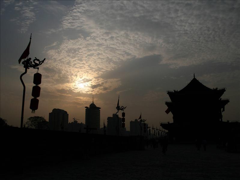 城牆上的夕陽