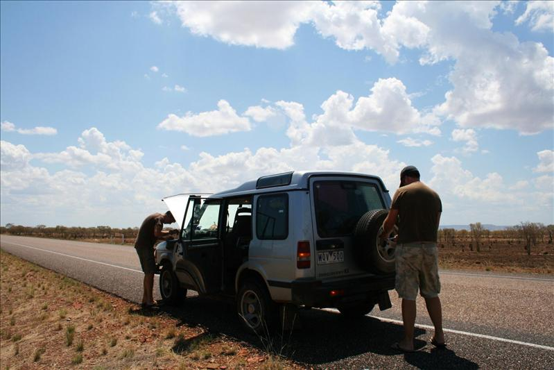 Flat tyre - Northern Territory!
