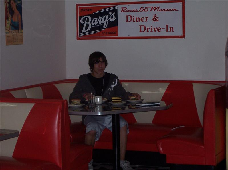 Jake in the old diner replica