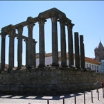 Roman temple by day.....