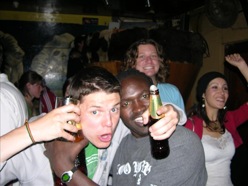 These two are wasted.  Also note the hottie behind Festus.
