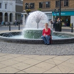 Me sitting in front of the fountain.