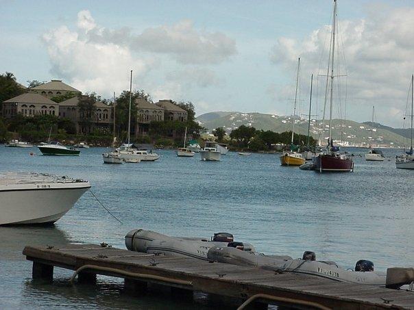 Cruz Bay by the ferry
