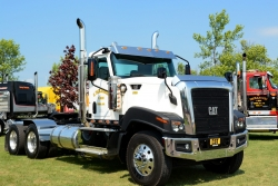 The newest addition to the show included this 2016 Caterpillar CY680L -- the only one Cat ever shipped to Canada.