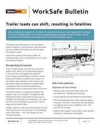 WorkSafeBC's latest safety bulletin.