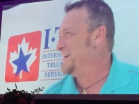 Justin Martin of International Truckload Services, featured in a video tribute for Driver of the Year.