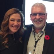 Clara Hughes and Gene Orlick, CTA chairman