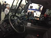 The Mack LR's cab interior.